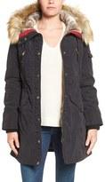 1 Madison Women's Parka With Faux Fur Trim Hood