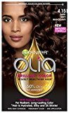 Garnier Olia Oil Powered Permanent Hair Color, 4.15 Dark Soft Mahogany (Packaging May Vary)