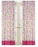 JoJo Designs Sweet Circles Pink and Green Window Treatment Panels -Set of 2