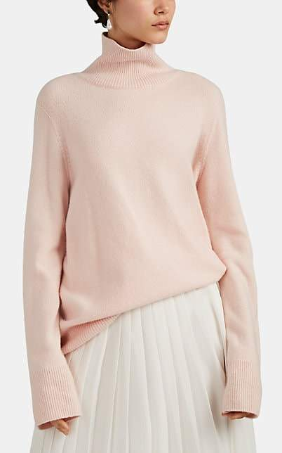 The Row Women's Milina Wool-Cashmere Turtleneck Sweater - Pink