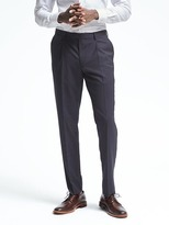 Banana Republic Slim Pleated Navy Wool Suit Trouser