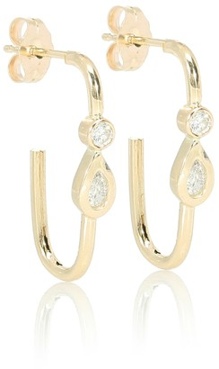 Jacquie Aiche Teardrop 14kt gold stud earrings with diamonds