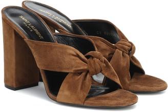 Saint Laurent Loulou 100 suede sandals