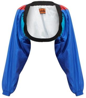 Colville - Vintage Cropped Shrug Track Jacket - Womens - Multi