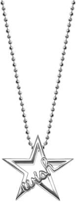 Alex Woo Sterling Silver Wish Star Pendant Necklace