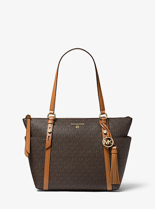 Michael Kors Sullivan Medium Logo Top-Zip Tote Bag