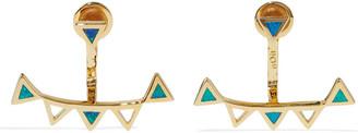 Noir Orion 14-karat Gold-plated Stone Earrings