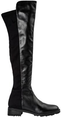 Tony Bianco Presto Black Luxe/Blk Micro Stretch Long Boots