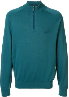 Emporio Armani Logo Zip-Up Sweatshirt