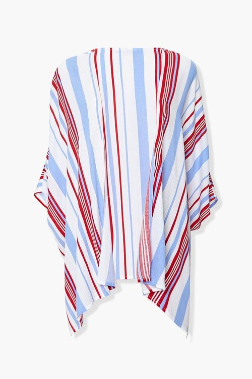 Forever 21 Striped Open-Front Kimono