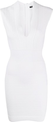 Balmain Fitted Rib-Knit Dress