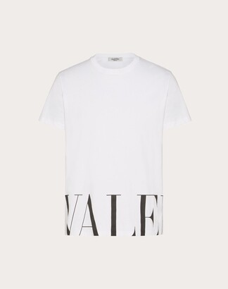 Valentino Print T-shirt Man White/ Black Cotton 100% L