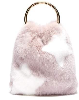 Simonetta Ravizza 'Furrsac' ring handle star print mink fur bag