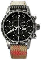 Burberry Check-Strap Chronograph Watch