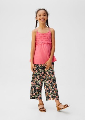 MANGO Broderie anglaise panel top pink - 7 - Kids