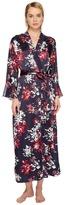 Oscar de la Renta Dahlia Floral Robe Women's Robe