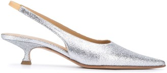 MM6 MAISON MARGIELA Metallic-Sheen Slingback Pumps