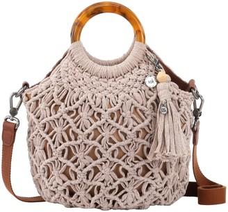 The Sak Helena Bracelet Handle Crocheted Crossbody Handbag