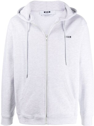 MSGM zip-up cotton hoodie