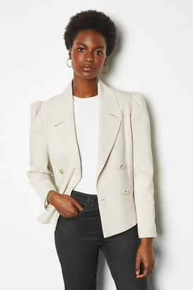 Karen Millen Gathered Sleeve Tailored Jacket