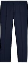 Jaeger Wool Regular Fit Suit Trousers, Navy