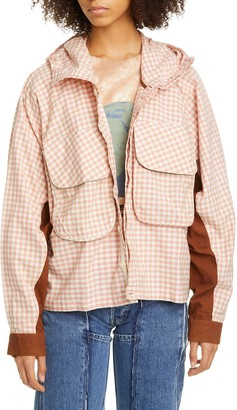 Story mfg. Forager Gingham Organic Cotton Jacket