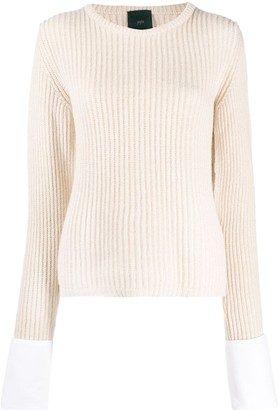 Jejia Ribbed Cut-Out Jumper