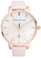 Ted Baker Classic Stainless Steel and Leather Watch