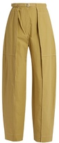 Lemaire High-rise wide-leg cotton cargo trousers