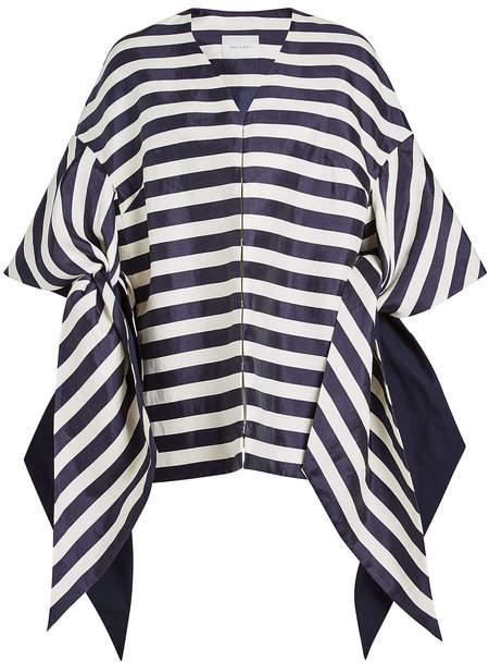DELPOZO Striped Tunic Top