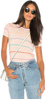 Wildfox Couture Tennis Stripe Tee in Peach. - size L (also in M,S,XS)