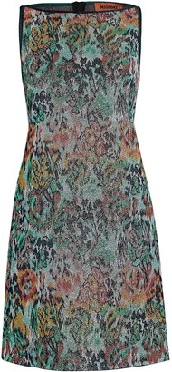 Missoni Lurex Floral Mini Shift Dress