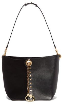See by Chloe Gaia Suede And Grained-leather Shoulder Bag - Womens - Black