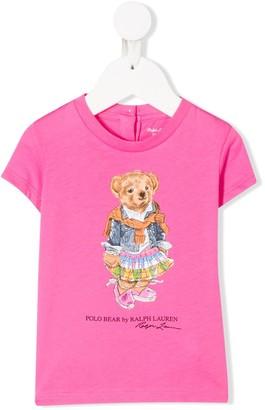 Ralph Lauren Kids Madras Bear T-shirt