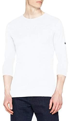 G Star Men's Belfurr Regular Pocket R T L/s Long Sleeve Top, (White 110)
