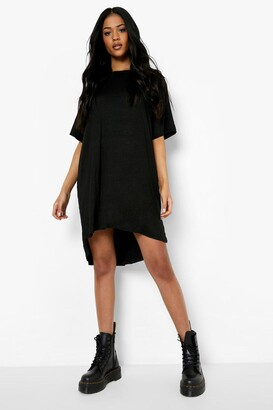 boohoo Tall Jersey Dipped Hem T-Shirt Dress