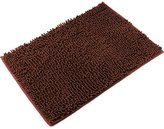 [Updated] VDOMUS Non-slip Microfiber Shag Bath Mat Bathroom Mats Shower Rugs - Brown 20 x 32 inches