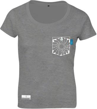 Anchor & Crew Athletic Grey Explorer Print Organic Cotton T-Shirt (Womens)