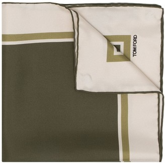Tom Ford Printed Pocket Square Scarf