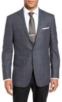 Hart Schaffner Marx Men's Classic Fit Plaid Wool & Cashmere Sport Coat