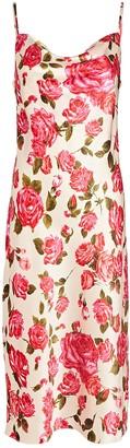 L'Agence Nyla Silk Floral Slip Dress