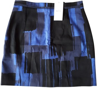 MANGO Black Cotton - elasthane Skirt for Women