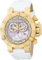 Invicta Women's Subaqua/Noma III Diamond Accented Chronograph White Leather