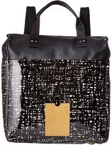 Orla Kiely Texture Stem Leather Backpack Backpack Bags