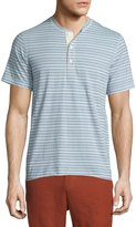 Billy Reid Hunter Striped Short-Sleeve Henley Shirt