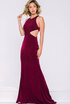 Jovani Long Sleeveless Cutout Dress 39798