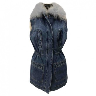 Yves Salomon Blue Fox Coat for Women