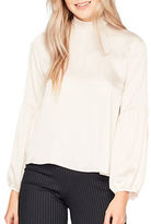 Miss Selfridge Mockneck Long Sleeve Blouse