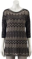 Dana Buchman Women's Textured Chevron Sweater