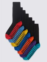 Marks and Spencer 7 Pairs of Cool & FreshfeetTM Cotton Rich Socks